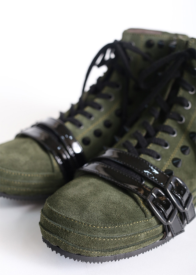 通常販売 HIGH CUT LEATHER SNEAKER