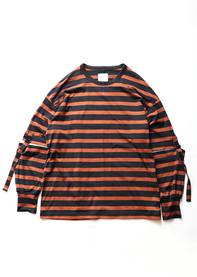 【予約商品】 BLOCKS BORDER SEPARATE SLEEVE-T