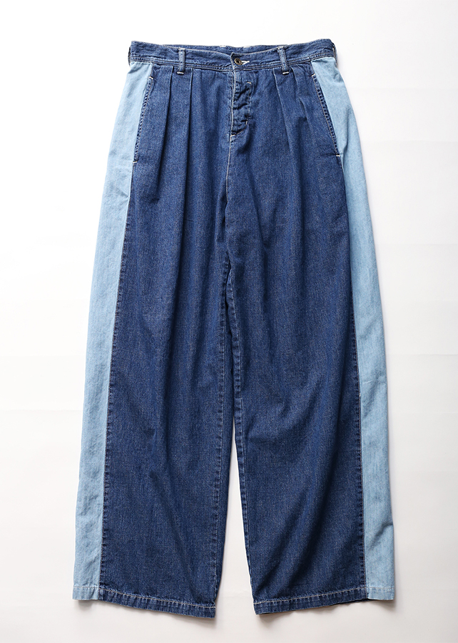 通常販売 DENIM SIDE LINE PANTS CHEMICAL-WASH