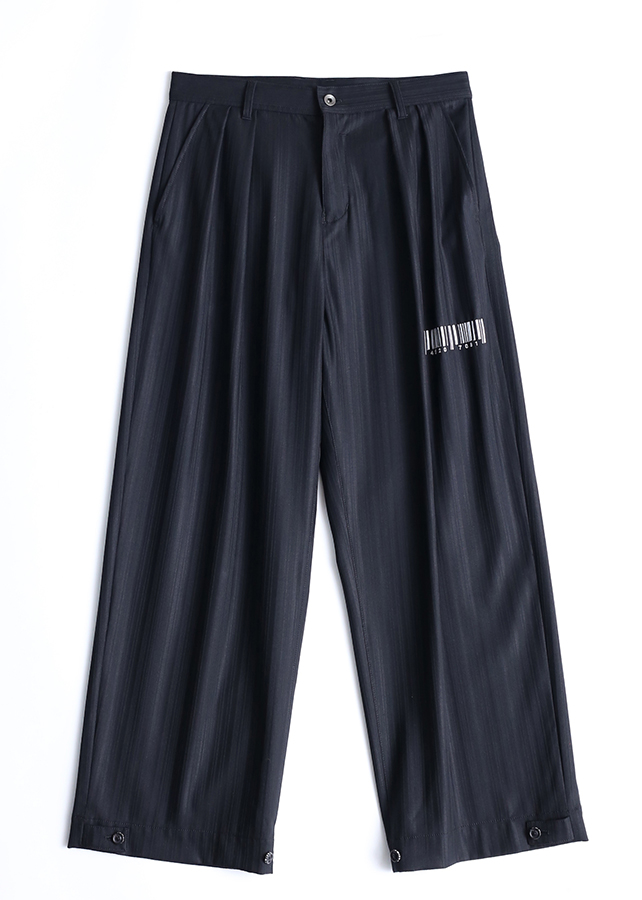 SHADOW STRIPE WIDE PANTS