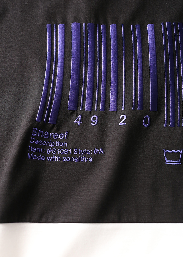 """BARCORD"" EMB. SWITSHING BIG-T"