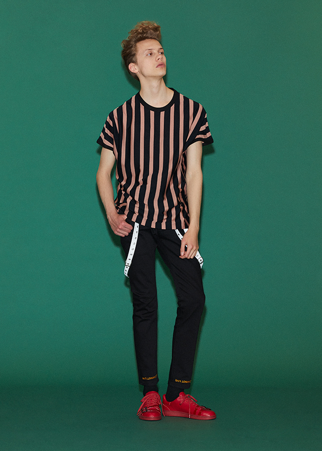 STRIPE CREW-NECK BIG-T