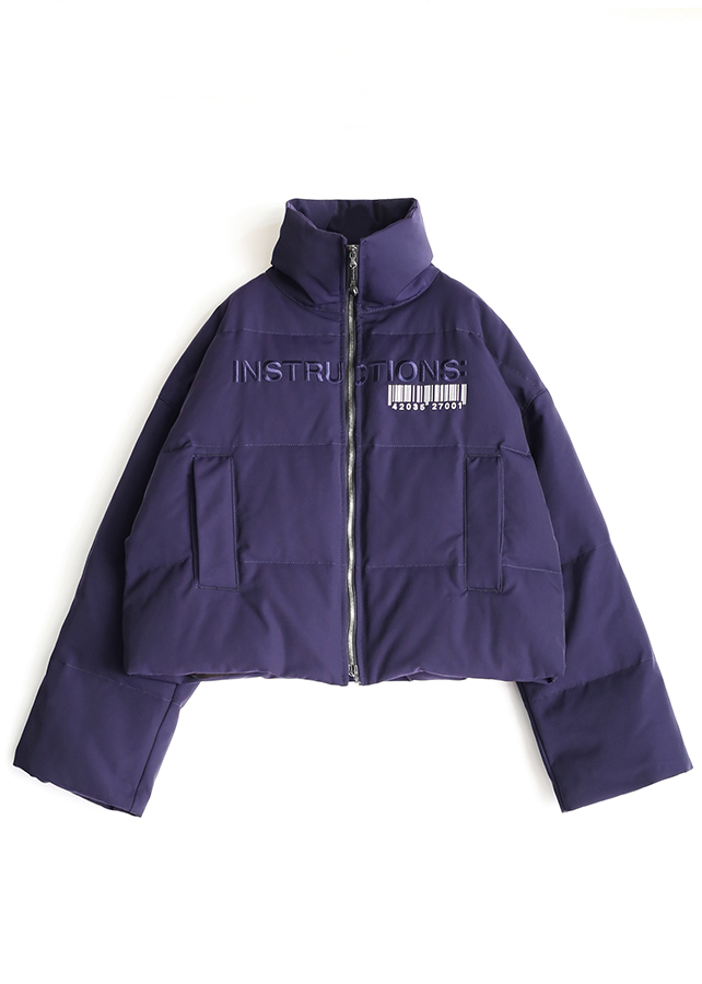 "DOWN BLOUSON ""INSTRUCTIONS"""