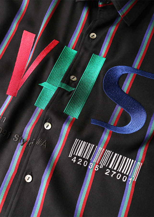 RGB STRIPE BIG SHIRTS