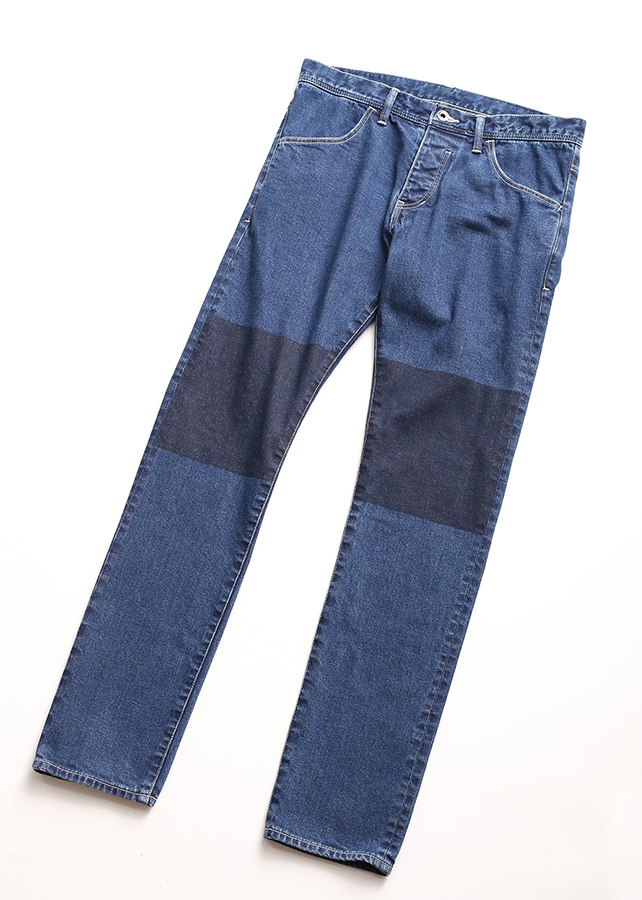 STRETCH DENIM MASKING SKINNY PANTS