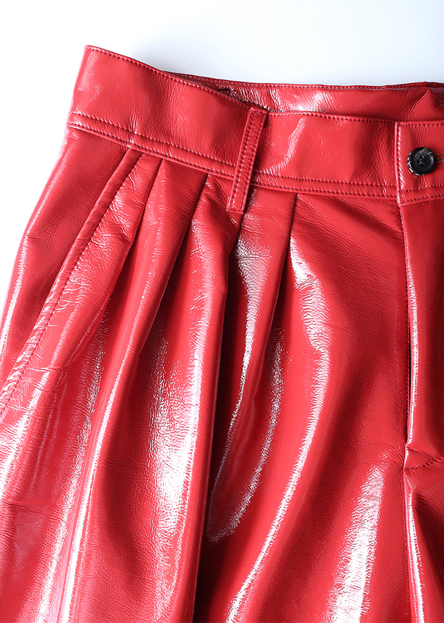 ENAMEL TAPERED PANTS