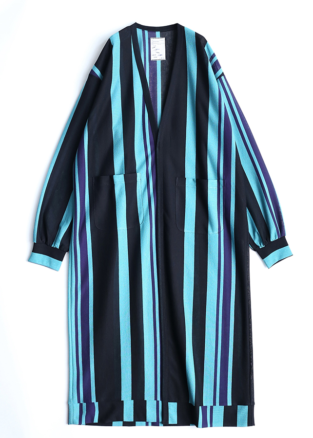 BE MALTI STRIPE LONG CARDIGAN