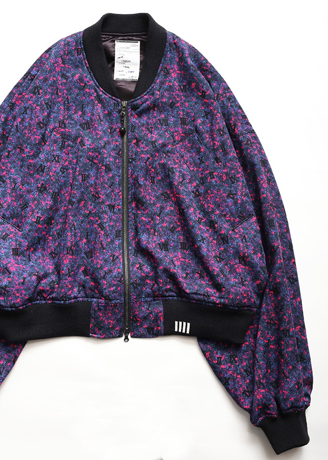 COLOR CAMOUFLAGE RIB BLOUSON