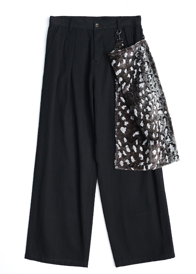 通常販売 SHADOW JQ FUR APRON WIDE PANTS