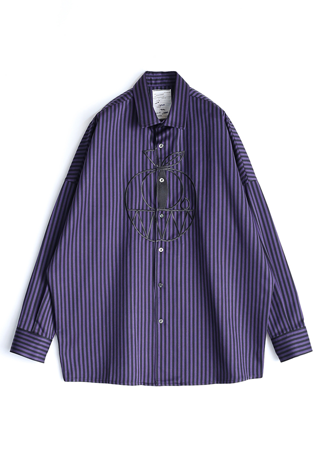 STRIPE L/S BIG SHIRTS
