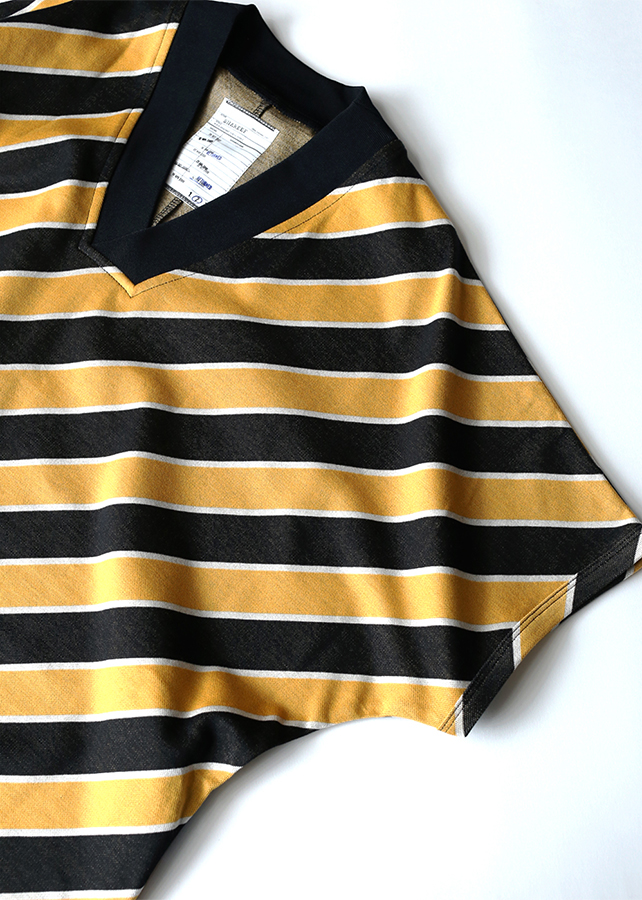 BIAS STRIPE V-NECK BIG-T