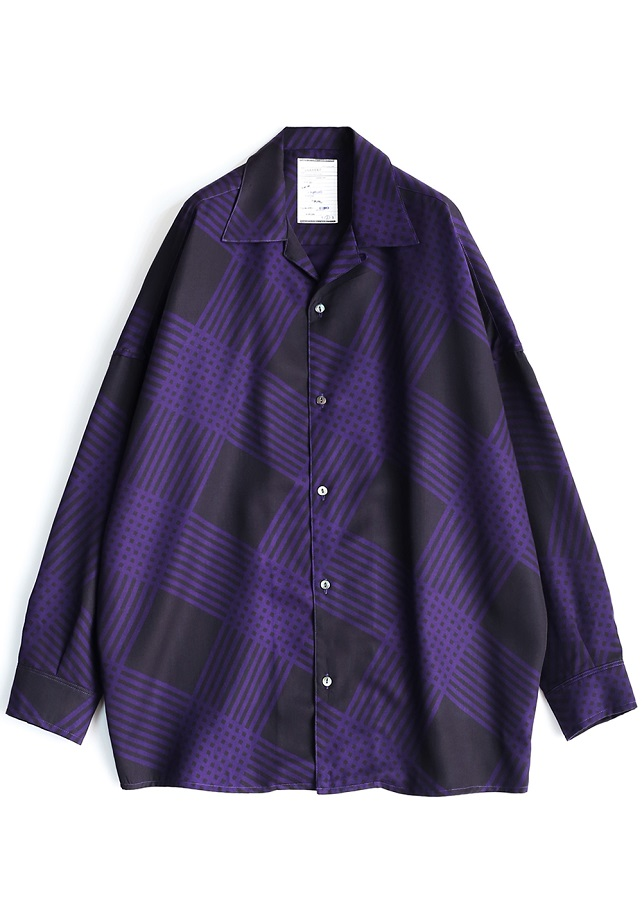 BIAS CHECK BIG SHIRTS/Purple