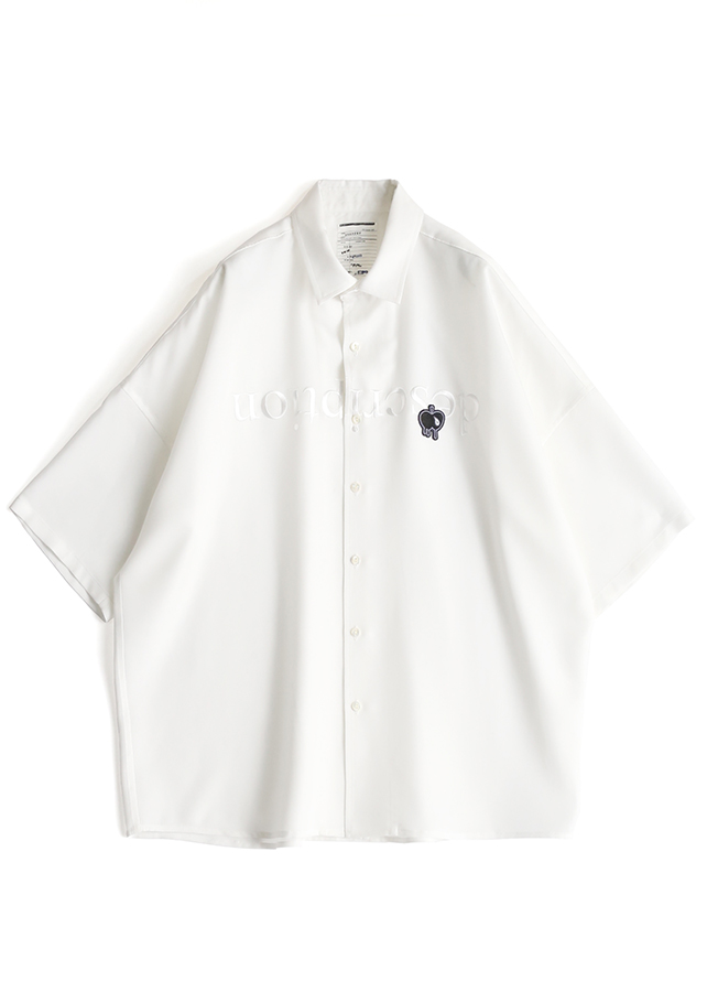 """ description"" EMB. S/S BIG SHIRTS/White"