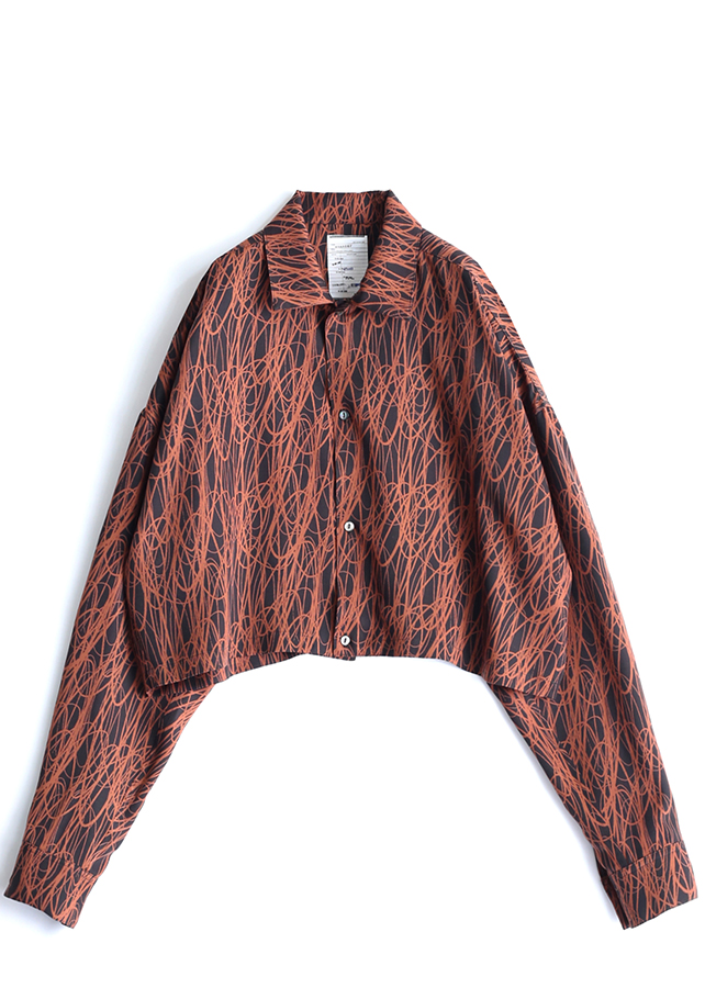 DRAWING PT  L/S SHORT SHIRTS/Orange