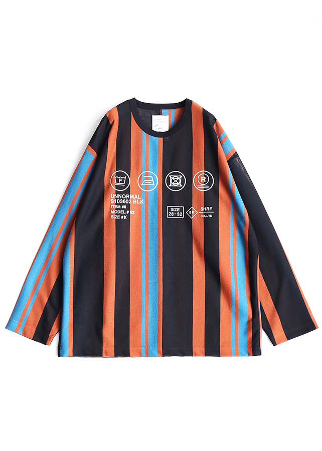 BE MALTI STRIPE L/S PULL-OVER/Orange