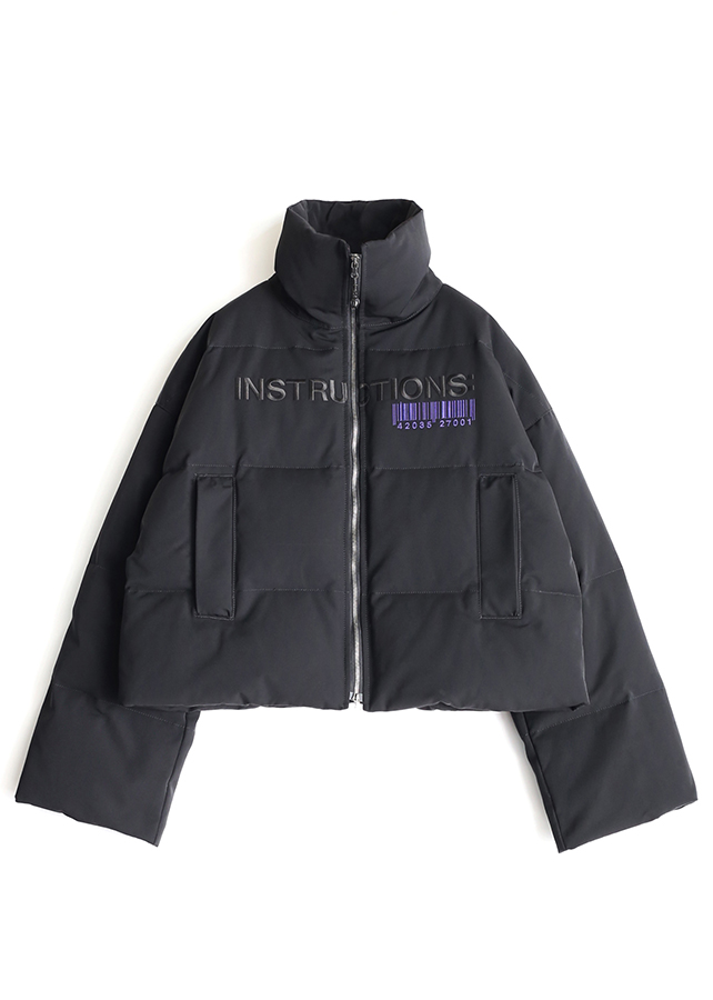 "DOWN BLOUSON ""INSTRUCTIONS""/Black"