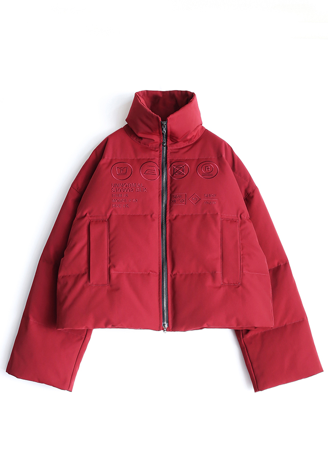 "DOWN BLOUSON ""CARE LABEL""/Red"