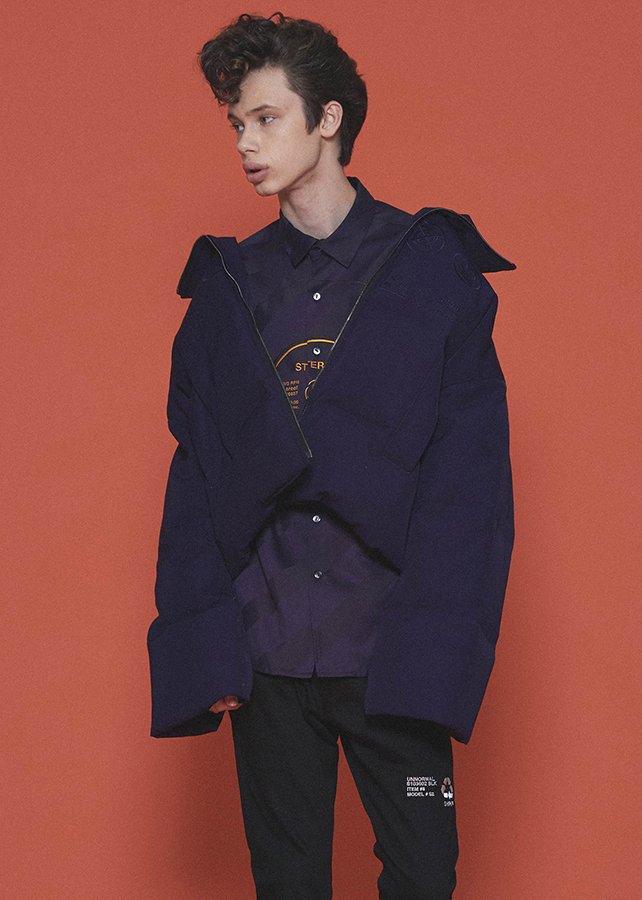 "DOWN BLOUSON ""CARE LABEL""/Navy"