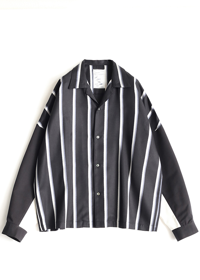 RGB STRIPE SHORT SHIRTS/WH/BK Stripe