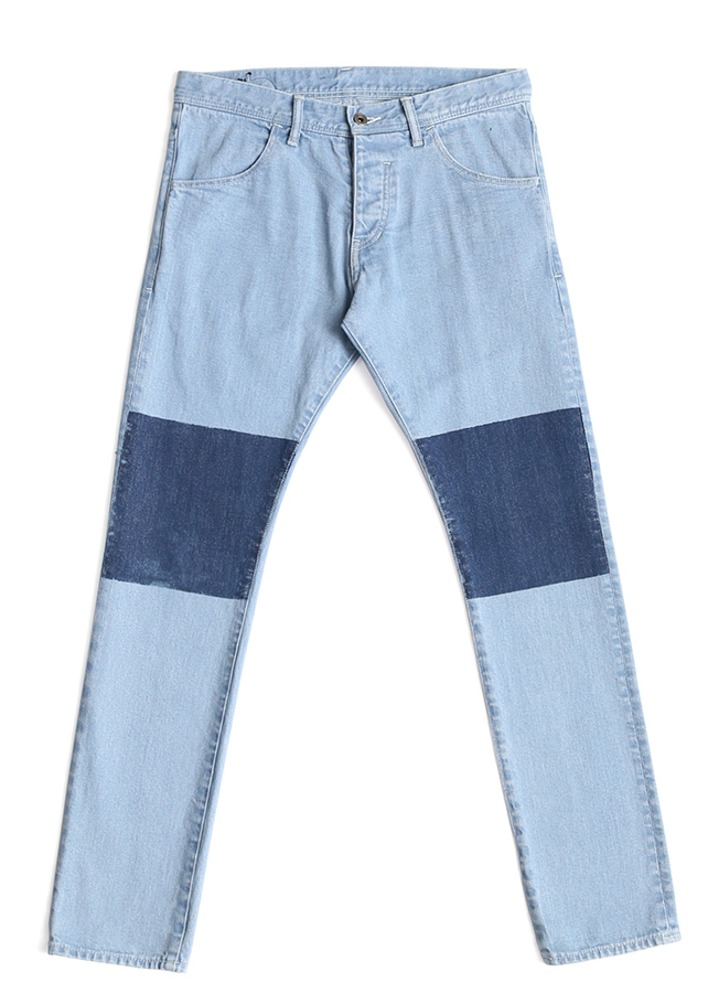 STRETCH DENIM MASKING SKINNY PANTS/Light Indigo