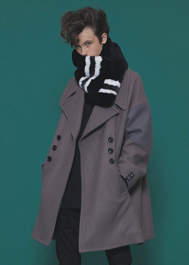 BIAS LINE BIG P-COAT/Mink Beige