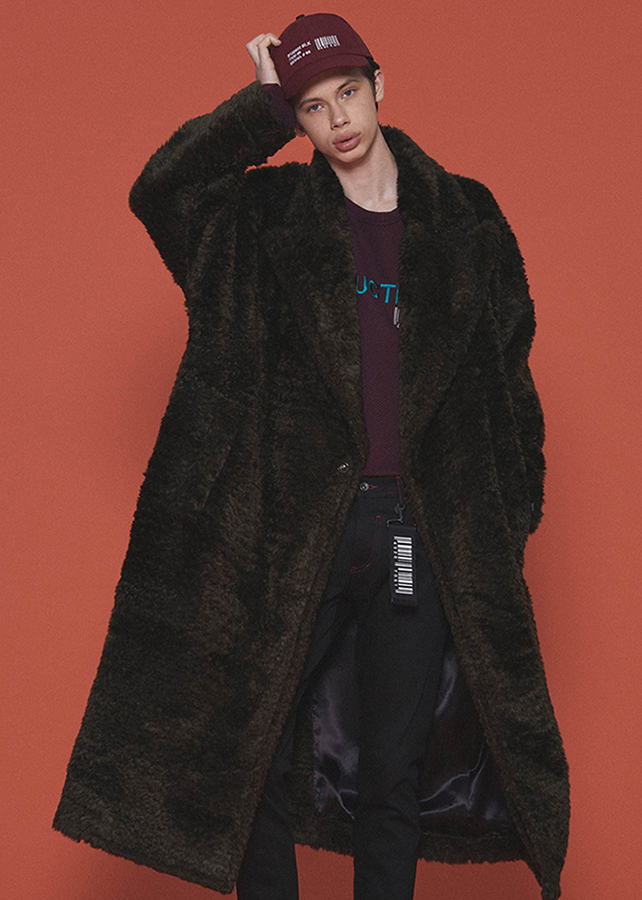 ECO FUR LONG COAT/Brown
