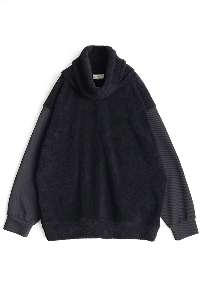 POLYESTER MOLE PULL OVER  (REMOVABLE NECK)/Black