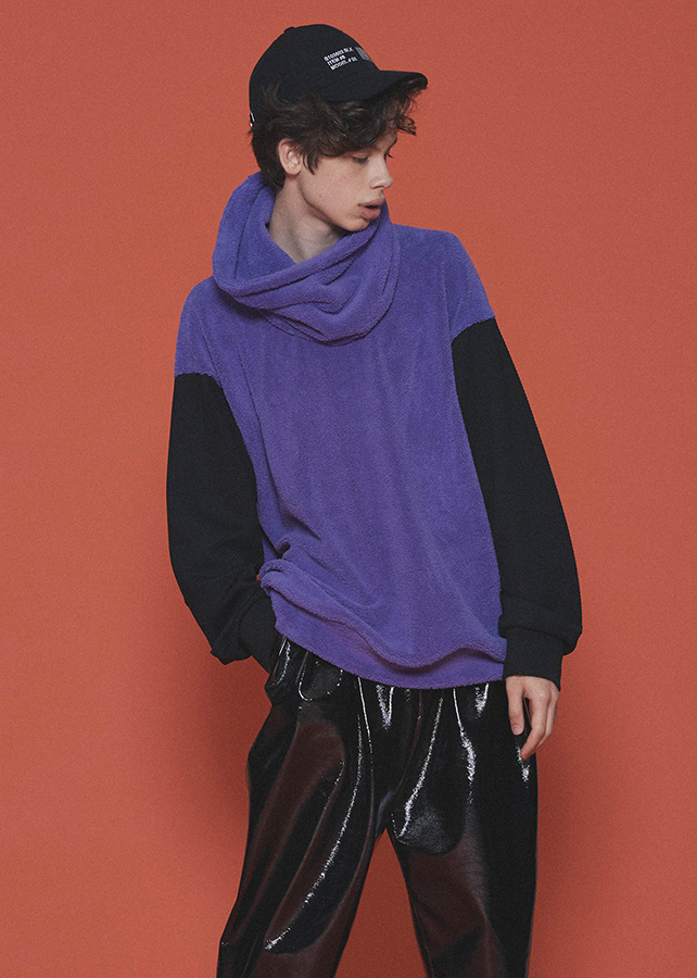 POLYESTER MOLE PULL OVER  (REMOVABLE NECK)/Lavender