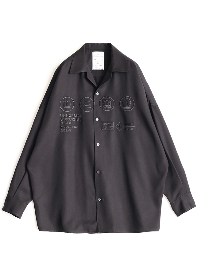 """CARE LABEL""  BIG SHIRTS/Black*Black"