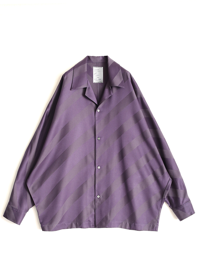 BIAS STRIPE DOLMAN SHIRTS/Purple