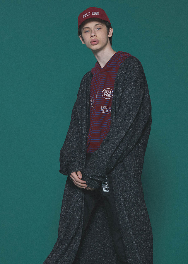 NEP WOOL LONG CARDIGAN/Black