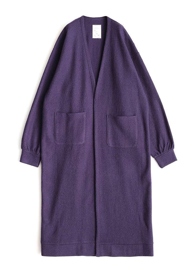 NEP WOOL LONG CARDIGAN/Purple