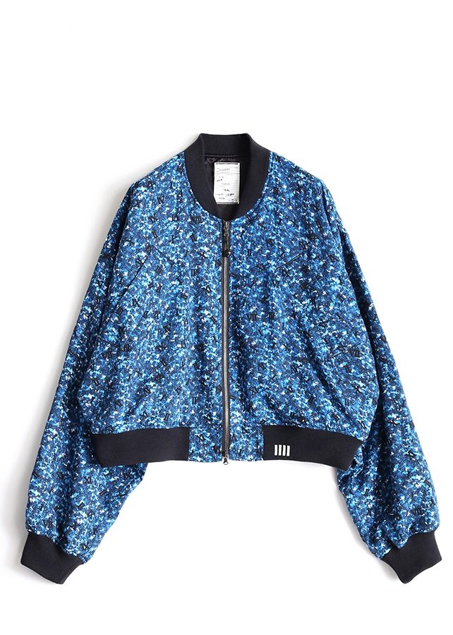 COLOR CAMOUFLAGE RIB BLOUSON/Blue