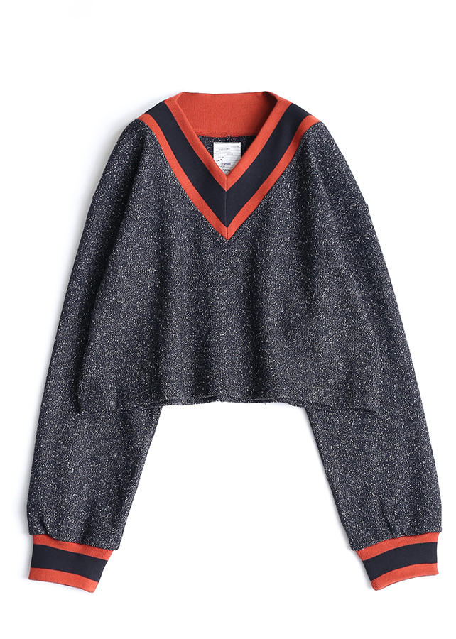 NEP WOOL SHORT PULL OVER/Black