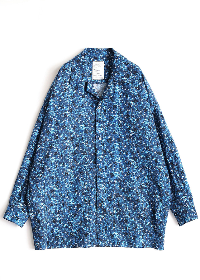 COLOR CAMOUFLAGE PAJAMAS SHIRTS/Blue