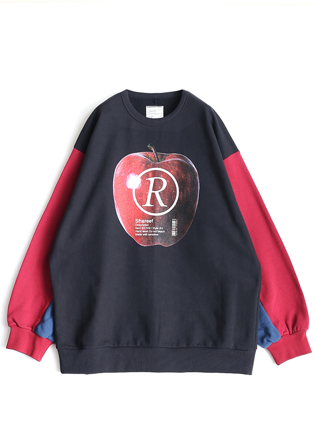 """APPLE R""  BIG SWEAT/Red"
