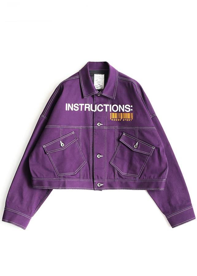 COLOR DENIM BLOUSON/Purple
