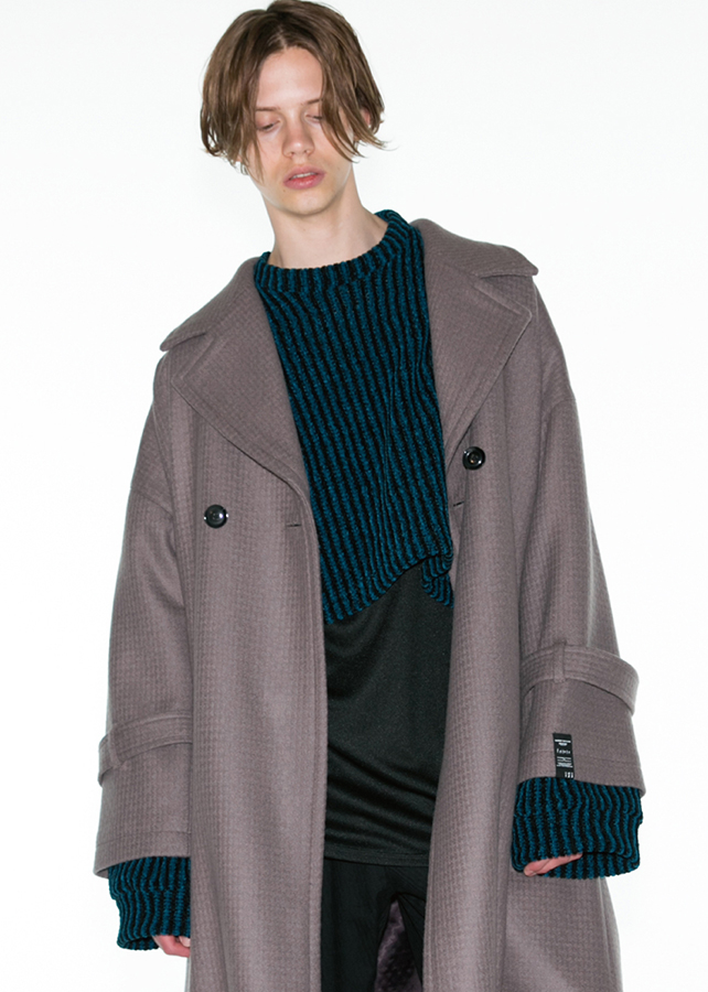 【予約商品】 CASHMERE MELTON LONG COAT