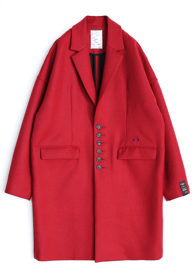 W-FACE CHESTER COAT/Red