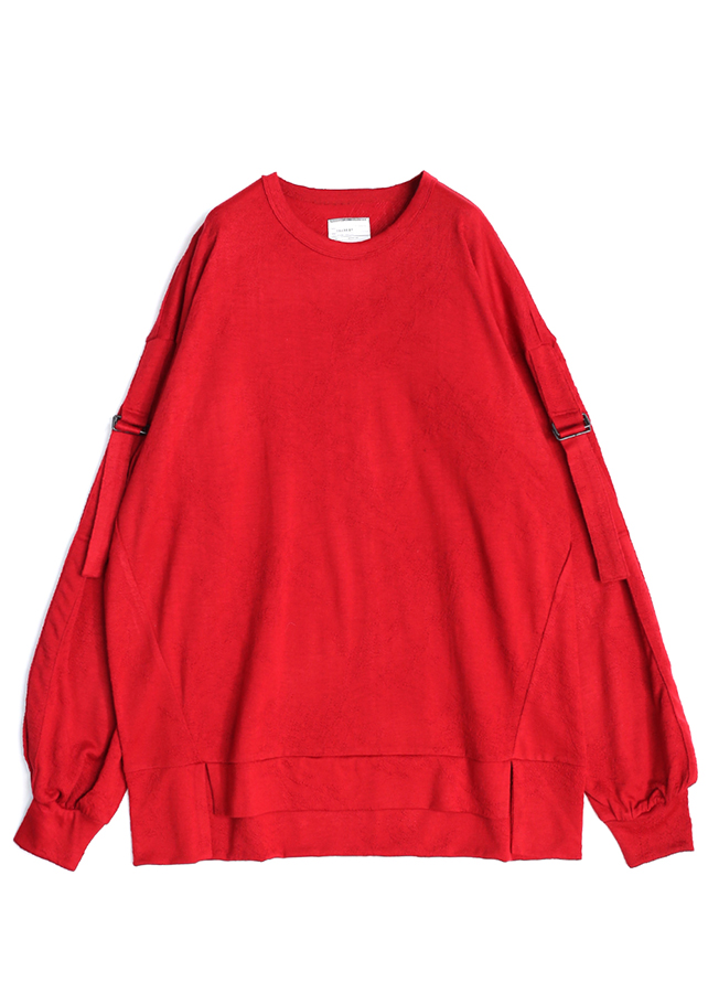 通常販売 WOOL JQ BELTED SLEEVE PULL-OVER