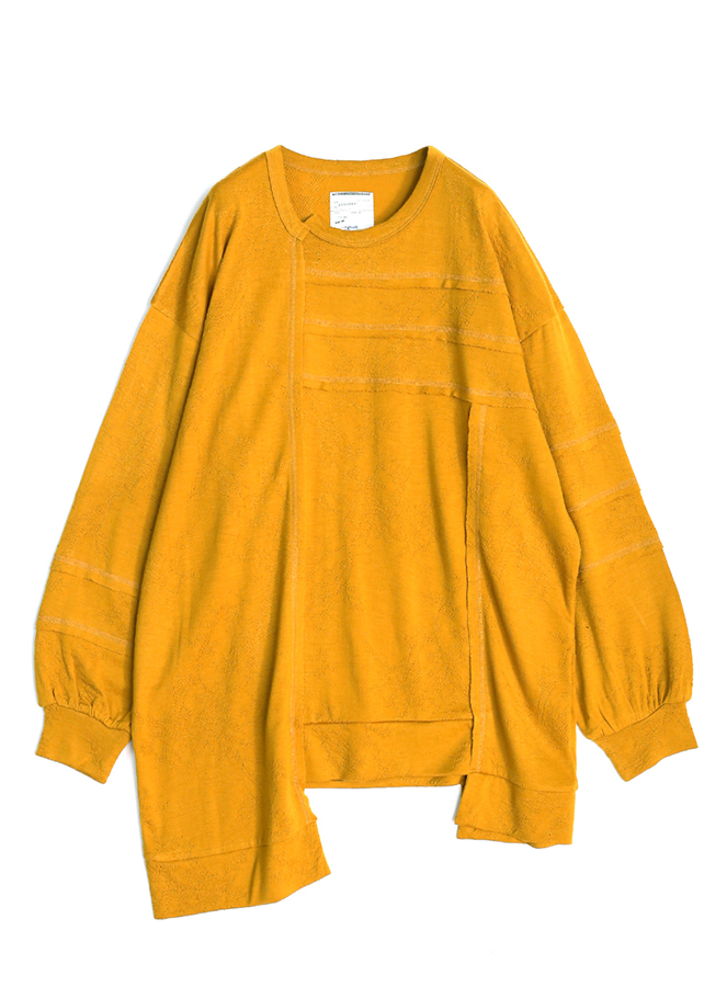WOOL JQ PATCHWORK PULL-OVER/Yellow