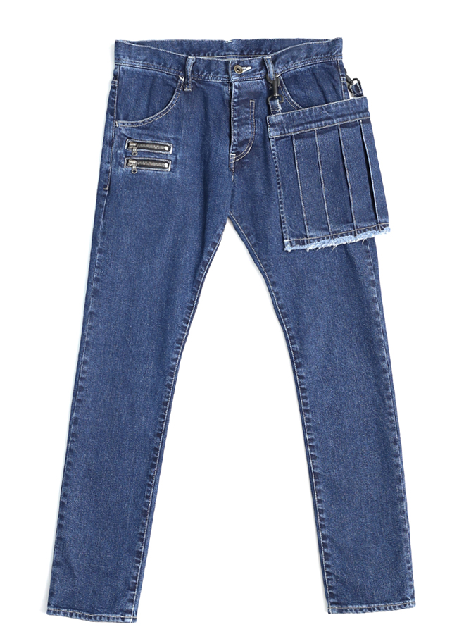 通常販売 DENIM PLEATS APRON SKINNY CM/W