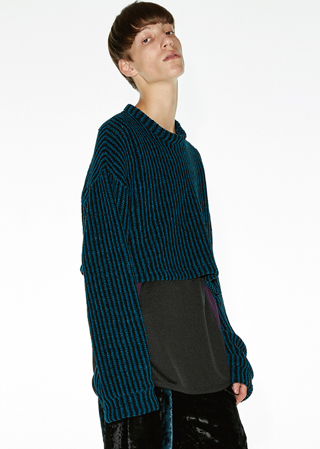 【予約商品】 MOLE STRIPE SHORT PULL-OVER