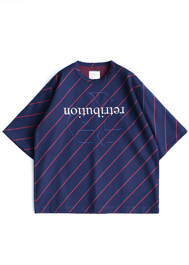 BIAS LINE S/S BIG-T/Navy