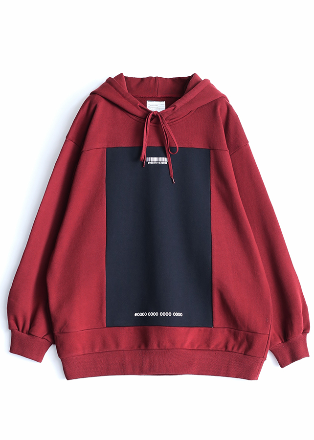 SWITCHING BIG HOODIE/Red