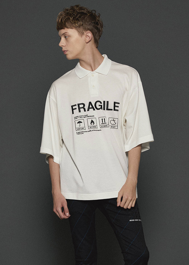 """FRAGILE"" BIG POLO/White"