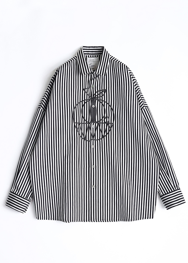 STRIPE L/S BIG SHIRTS/White