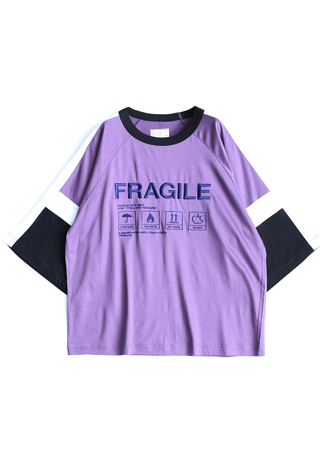 """FRAGILE"" SWITCHING BIG-T/ Mokha Pink"