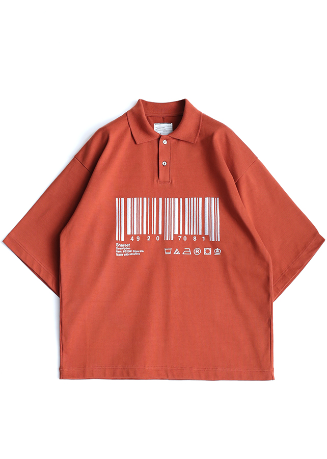 """BARCODE"" BIG POLO/Orange"