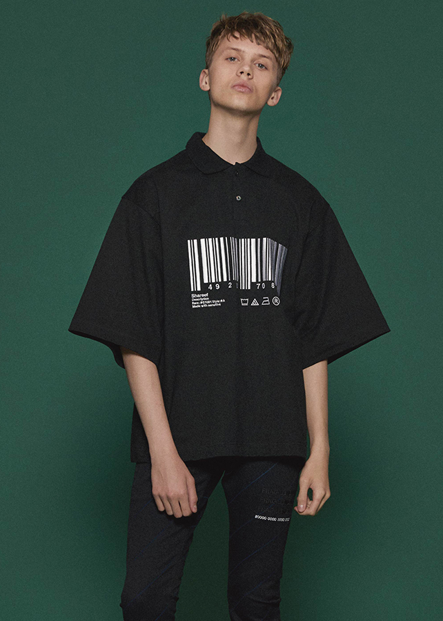 """BARCODE"" BIG POLO/Black"